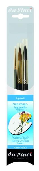da Vinci Naturhaar   Aquarell - Malpinselset   Serie 4235