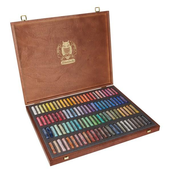 Schmincke Pastellfarbe | Pastell | Holzkasten | Mehrzweck mit 100 Stifte
