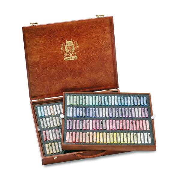 Schmincke Pastellfarbe | Pastell | Holzkasten | Mehrzweck mit 200 Stifte