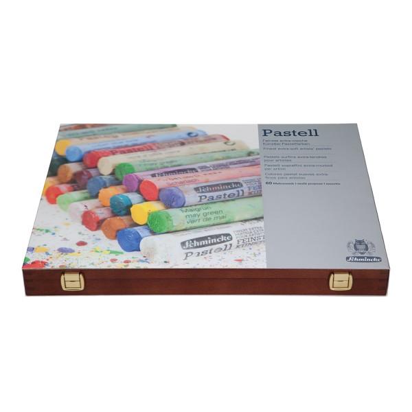 Schmincke Pastellfarbe   Pastell   Holzkasten   Mehrzweck mit 60 Stifte