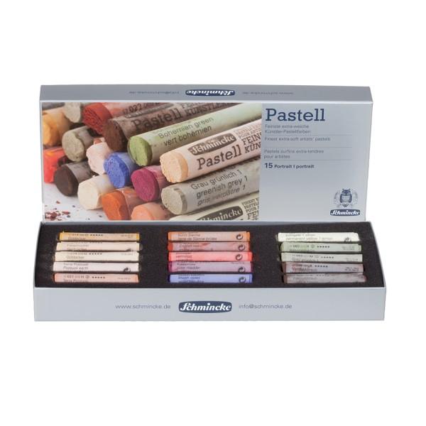 Schmincke Pastellfarbe | Pastell | Kartonset | Portrait mit 15 Stifte